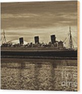 Queen Mary In Sepia Wood Print