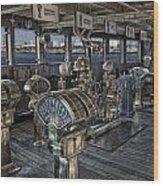 Queen Mary Ocean Liner Bridge 01 Extreme Wood Print