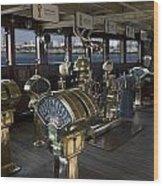 Queen Mary Ocean Liner Bridge 01 Wood Print