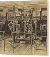 Queen Mary Ocean Liner Bridge 02 Heirloom Wood Print