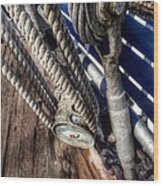 Queen Mary Ship Turnbuckle Wood Print