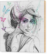 Queen Of Butterflies Wood Print