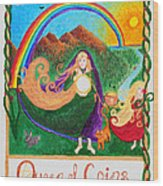 Queen Of Coins Wood Print