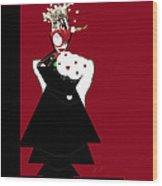 Queen Of Hearts Wood Print
