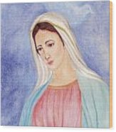 Queen Of Peace Wood Print