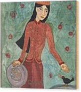 Queen Of Pentacles Wood Print