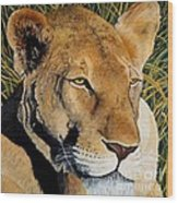 Queen Of The African Savannah Wood Print