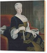 Queen Sophia Dorothea Of Hanover Oil On Canvas Wood Print