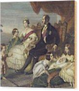 Queen Victoria & Family Wood Print