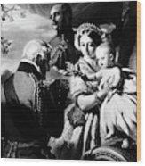 Queen Victoria & Son Wood Print