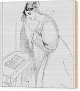 Queen Victoria Sketch Wood Print