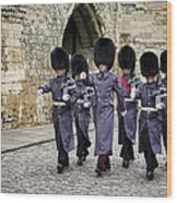 Queens Guard Wood Print