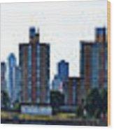 Queensboro Bridge / Roosevelt Island Panorama Wood Print
