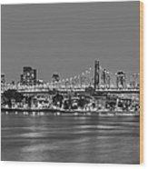 Queensboro Bridge 59th Street Nyc Bw Wood Print