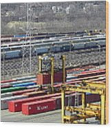 Queensgate Yard Cincinnati Ohio Wood Print