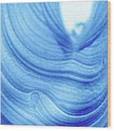 Query Blue 2 Wood Print
