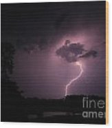 Questioning The Thunderstorm Wood Print