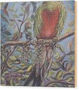 Quetzal On A Limb Wood Print