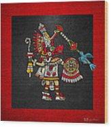 Quetzalcoatl In Human Warrior Form - Codex Magliabechiano Wood Print