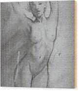 Quick Sketch Wood Print by Luis  Navarro