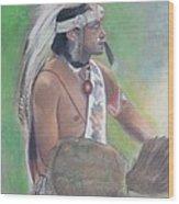 Wampanoag Dancer Wood Print