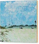 Quiet Beach Day Wood Print