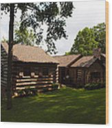 Quiet Cabin On A Hill Wood Print