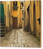 Quiet Lane In Tuscany 1 Wood Print