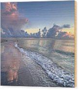 Quiet Morning Wood Print by Debra and Dave Vanderlaan