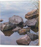 Quiet Morning. Ladoga Lake Wood Print