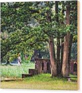Quiet Park Corner. De Haar Castle Wood Print