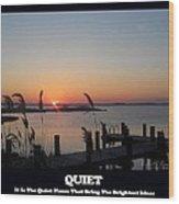 Quiet Wood Print