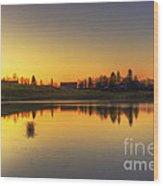 Quiet Sunrise.. Wood Print