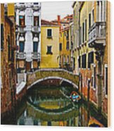 Quiet Venice Morning Wood Print