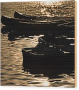 Quiet Waters At Sunset Wood Print