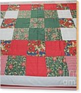 Quilt Christmas Blocks Wood Print