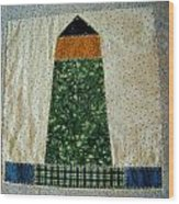 Quilt Work Of The Chambers Island Lighthouse Wood Print
