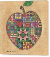Quilted Apple Wood Print