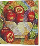 quilted Apples Wood Print