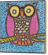 Quilted Judge Owl Wood Print