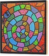 Quilted Spiral Snake Wood Print