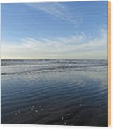 Quinault Beach Patterned Reflection Wood Print