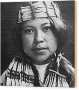 Quinault Indian Girl Circa 1913 Wood Print