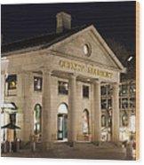 Quincy Market Boston Wood Print