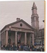 Quincy Market - Boston Massachusetts Wood Print