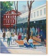 Quincy Market Wood Print