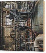 Quincy Mine Hoist Wood Print