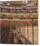 Quite Time Chicago United Center Before The Gates Open Vertical Wood Print