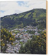 Quito From El Panecillo Wood Print
