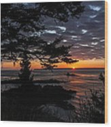 Quoddy Sunrise Wood Print by Marty Saccone